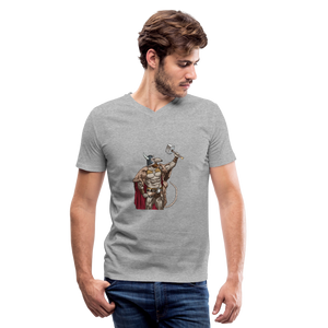 Home Gym Guilty Viking Rat Men's V-Neck T-Shirt - heather gray