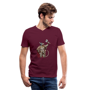 Home Gym Guilty Viking Rat Men's V-Neck T-Shirt - maroon