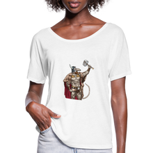 Load image into Gallery viewer, Home Gym Guilty Viking Rat Women's Flowy T-Shirt - white