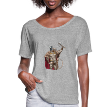 Load image into Gallery viewer, Home Gym Guilty Viking Rat Women's Flowy T-Shirt - heather gray