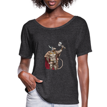 Load image into Gallery viewer, Home Gym Guilty Viking Rat Women's Flowy T-Shirt - charcoal gray