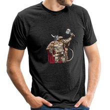 Load image into Gallery viewer, Home Gym Guilty Viking Rat Unisex Tri-Blend T-Shirt - heather black