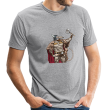 Load image into Gallery viewer, Home Gym Guilty Viking Rat Unisex Tri-Blend T-Shirt - heather gray