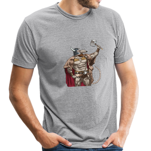 Home Gym Guilty Viking Rat Unisex Tri-Blend T-Shirt - heather gray