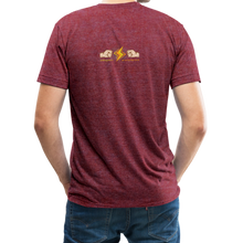 Load image into Gallery viewer, Home Gym Guilty Viking Rat Unisex Tri-Blend T-Shirt - heather cranberry