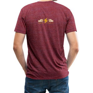 Home Gym Guilty Viking Rat Unisex Tri-Blend T-Shirt - heather cranberry
