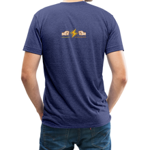 Load image into Gallery viewer, Home Gym Guilty Viking Rat Unisex Tri-Blend T-Shirt - heather indigo