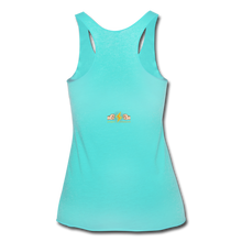 Load image into Gallery viewer, Home Gym Guilty Viking Rat Women's Tri-Blend Racerback Tank - turquoise