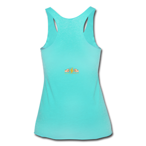 Home Gym Guilty Viking Rat Women's Tri-Blend Racerback Tank - turquoise
