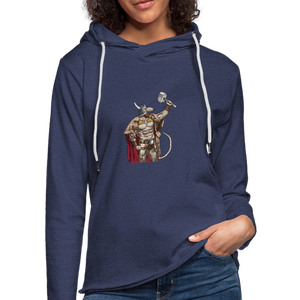 Home Gym Guilty Viking Rat Unisex Lightweight Terry Hoodie - heather navy