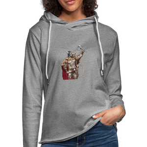 Home Gym Guilty Viking Rat Unisex Lightweight Terry Hoodie - heather gray
