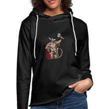 Load image into Gallery viewer, Home Gym Guilty Viking Rat Unisex Lightweight Terry Hoodie - charcoal gray