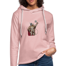 Load image into Gallery viewer, Home Gym Guilty Viking Rat Unisex Lightweight Terry Hoodie - cream heather pink