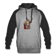 Load image into Gallery viewer, Home Gym Guilty Viking Rat Colorblock Hoodie - heather gray/black