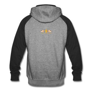Home Gym Guilty Viking Rat Colorblock Hoodie - heather gray/black