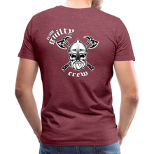 Load image into Gallery viewer, Men's Premium T-Shirt axe skull - heather burgundy