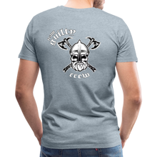 Load image into Gallery viewer, Men's Premium T-Shirt axe skull - heather ice blue