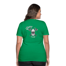 Load image into Gallery viewer, Women's Premium T-Shirt axe skull - kelly green