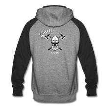 Load image into Gallery viewer, Colorblock Hoodie axe skull - heather gray/black
