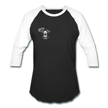 Load image into Gallery viewer, Baseball T-Shirt skull and axe - black/white