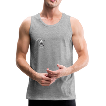 Load image into Gallery viewer, Men's Premium Tank skull axe - heather gray