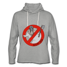 Load image into Gallery viewer, Unisex Lightweight Terry Hoodie viking ghost - heather gray