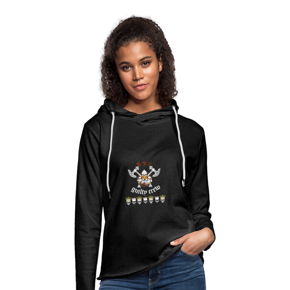 Unisex Lightweight  Hoodie skull viking - charcoal gray