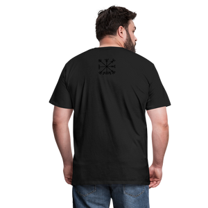 viking skull shirt - black