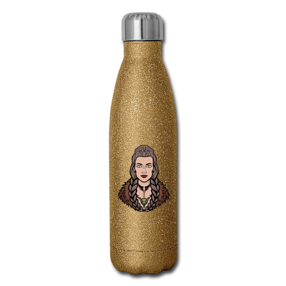 Insulated Stainless Steel Water Bottle - gold glitter