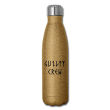 Load image into Gallery viewer, Insulated Stainless Steel Water Bottle - gold glitter
