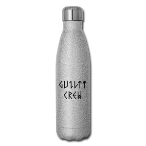 Insulated Stainless Steel Water Bottle - silver glitter