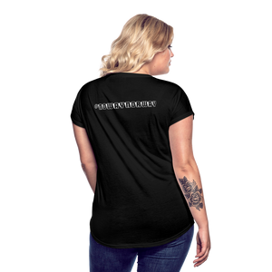 Women's Tri-Blend V-Neck T-Shirt #NoWayNorway - black