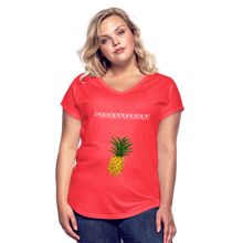 Load image into Gallery viewer, Women's Tri-Blend V-Neck T-Shirt #NoWayNorway - heather red