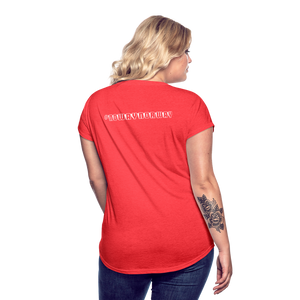 Women's Tri-Blend V-Neck T-Shirt #NoWayNorway - heather red