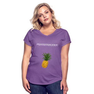 Women's Tri-Blend V-Neck T-Shirt #NoWayNorway - purple heather