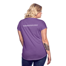Load image into Gallery viewer, Women's Tri-Blend V-Neck T-Shirt #NoWayNorway - purple heather