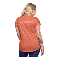 Load image into Gallery viewer, Women's Tri-Blend V-Neck T-Shirt #NoWayNorway - heather bronze