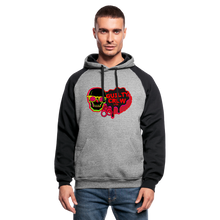 Load image into Gallery viewer, Colorblock Hoodie gamer - heather gray/black