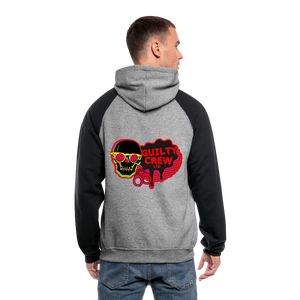 Colorblock Hoodie gamer - heather gray/black