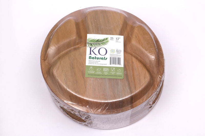 "Extra Large Round Partition Plates (12"") - The KO Shop Australia Pty Ltd"