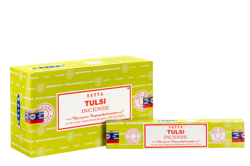SATYA TULSI INCENSE 15 g x12 - The KO Shop Australia Wholesale Suppliers Distributors of New Age Products & Natural Incense