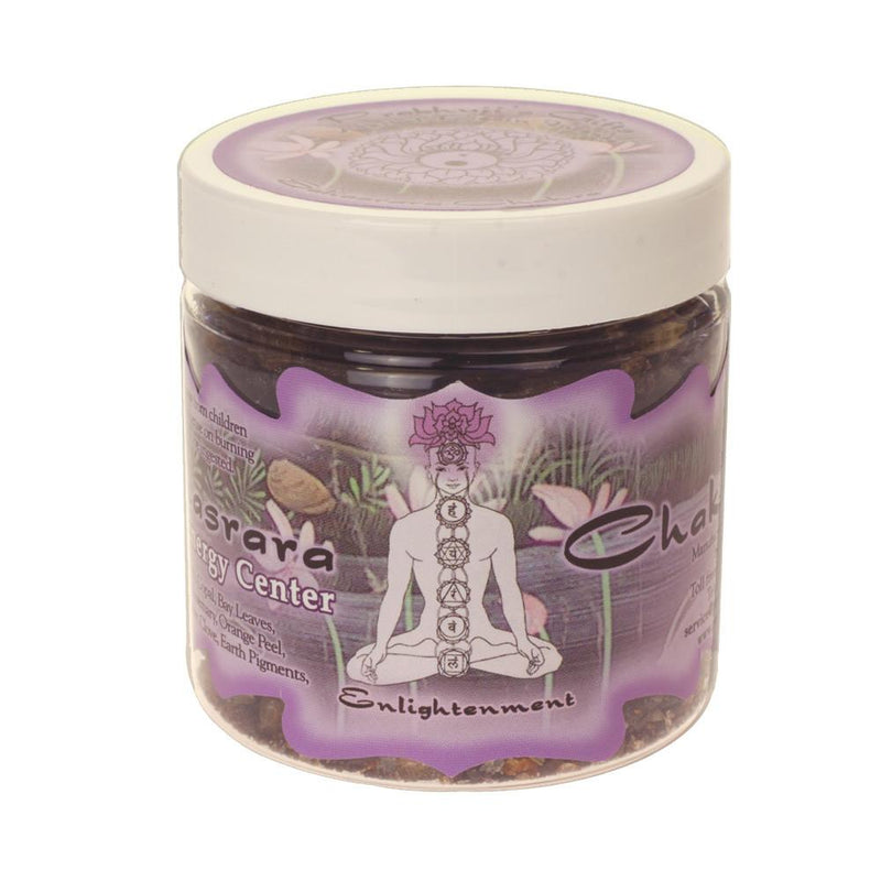 Resin Incense Crown Chakra Sahasrara - Enlightenment - 2.4oz jar - The KO Shop Australia Pty Ltd