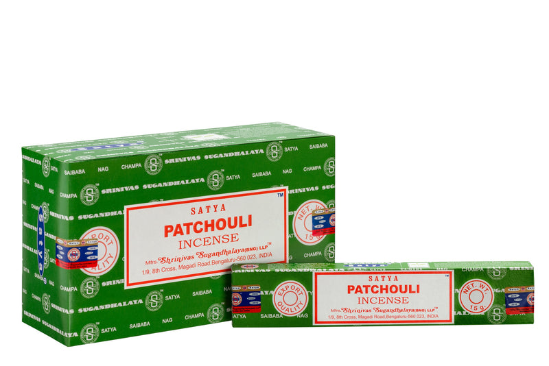 SATYA PATCHOULI INCENSE 15 g x 12 - The KO Shop Australia Wholesale Suppliers Distributors of New Age Products & Natural Incense