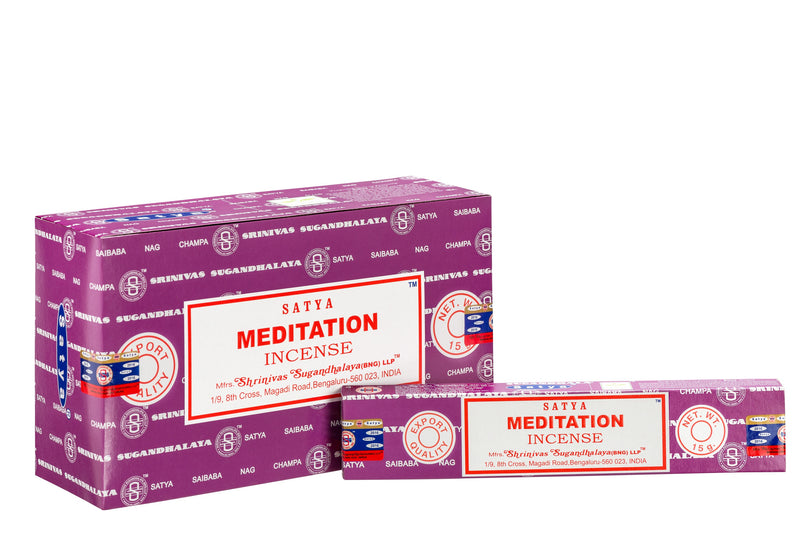 SATYA MEDITATION INCENSE 15 g x 12 - The KO Shop Australia Wholesale Suppliers Distributors of New Age Products & Natural Incense