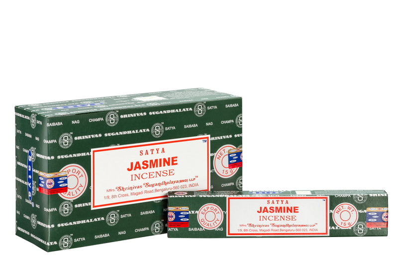SATYA JASMINE INCENSE 15 g x 12 - The KO Shop Australia Wholesale Suppliers Distributors of New Age Products & Natural Incense