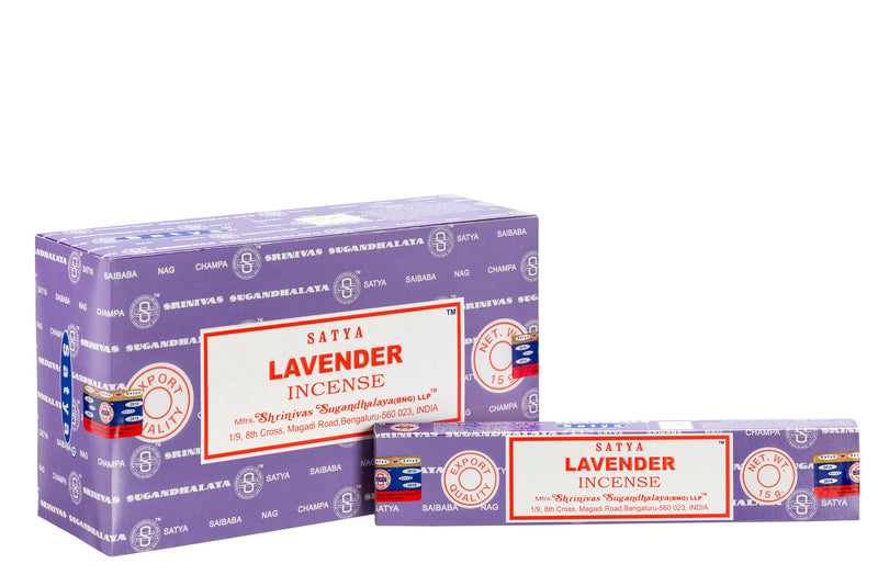 SATYA LAVENDER INCENSE 15 g x 12 - The KO Shop Australia Wholesale Suppliers Distributors of New Age Products & Natural Incense