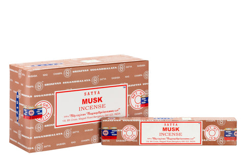 SATYA MUSK INCENSE 15 g x 12 - The KO Shop Australia New Age Productd