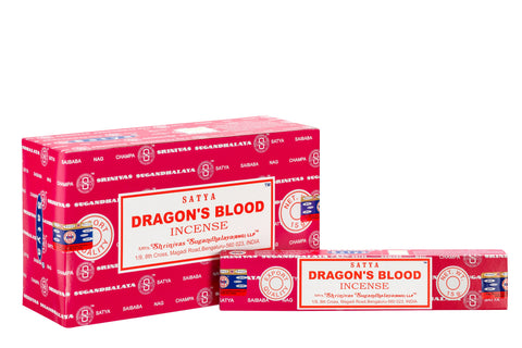 SATYA DRAGONS BLOOD INCENSE 15 g x 12 - The KO Shop Australia New Age Productd