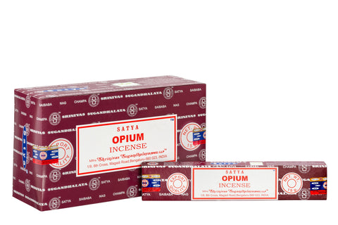 SATYA OPIUM INCENSE 15 g x 12 - The KO Shop Australia New Age Productd