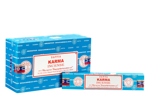 SATYA KARMA INCENSE 15 g x 12 - The KO Shop Australia New Age Productd